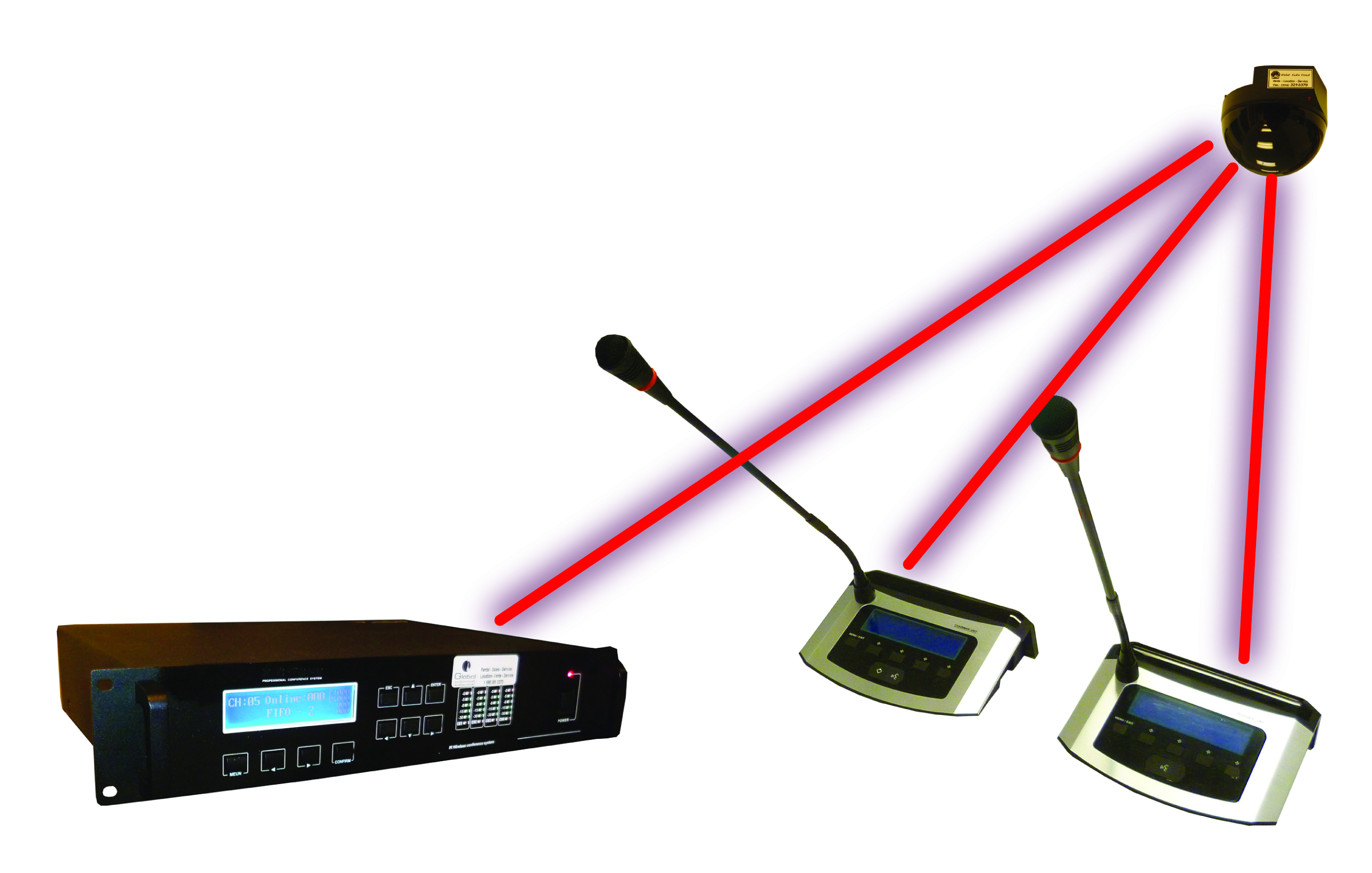 Wireless Conference Room Microphone System
